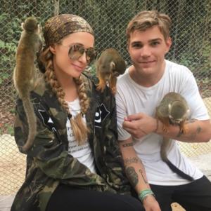 Paris Hilton & Chris Zylka Monkeyin' Around