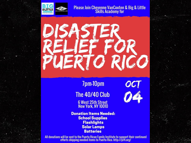 Jay-Z, Disaster Relief for Puerto Rico, 40/40 Club