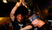 Aaron Judge Goes Champagne Crazy After Yankees Wild-Card Win