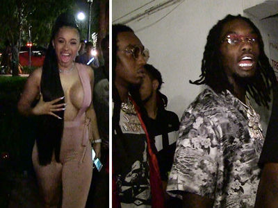 Cardi B, Migos Party Hard in Miami After BET Hip Hop Awards