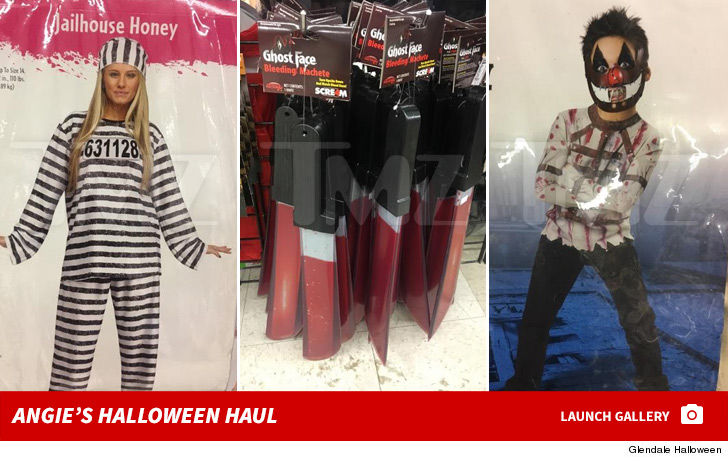 sheu0027s been busy on the halloween store circuit she also loaded up last week at hollywood toys and costumes twenty more shopping days angie