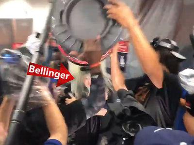 Dodgers' Cody Bellinger Gets Trash Can Shower After NLDS Sweep