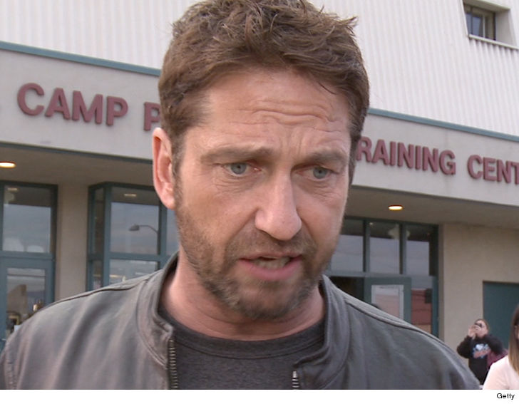 Gerard Butler crashes bike after being 'cut off by car' in LA