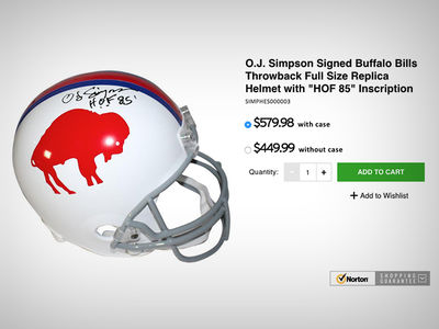 O.J. Simpson: Newly Signed Helmets Selling for a Killing