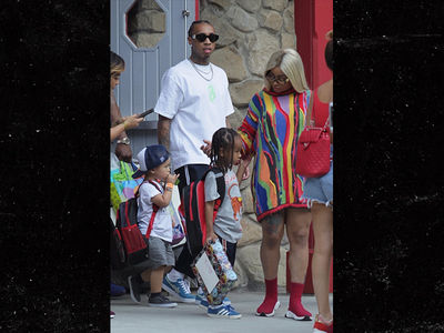 Blac Chyna and Tyga Take King Cairo to Six Flags for 5th Birthday