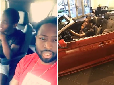 Dwyane Wade Shuts Down Son's Ferrari Dream in Car Dealership Visit