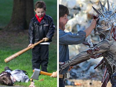Most Brutal, Bloodiest 'Walking Dead' Moments Get Mini-Makeover With Kids -- Even Glenn's MURDER!