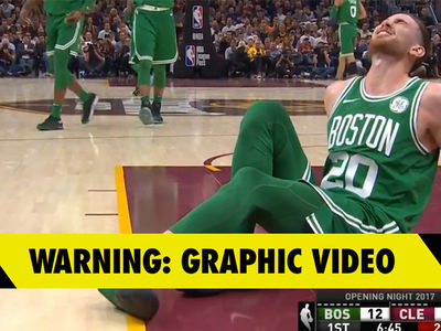 Gordon Hayward Suffers Gruesome Ankle Injury During Celtics Debut