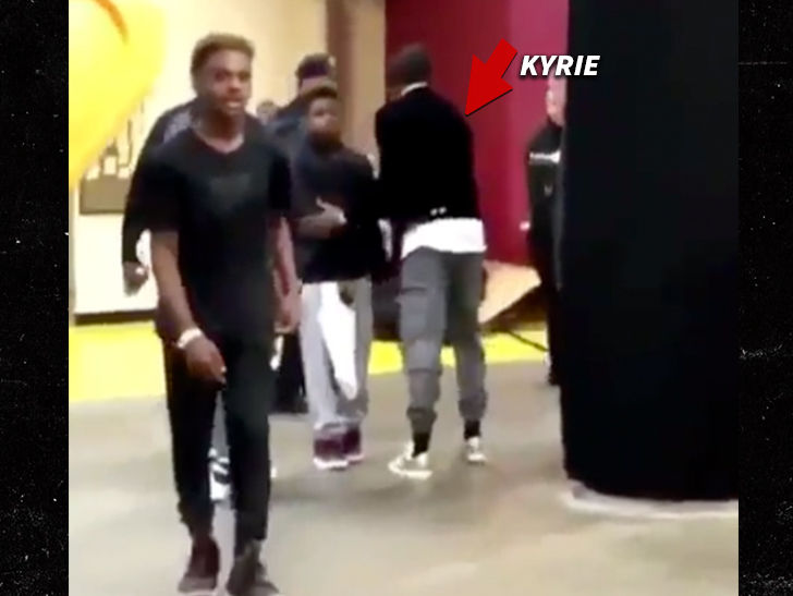 Kyrie Irving Hugs LeBron