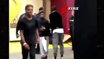 Kyrie Irving Hugs LeBron's Kids After Losing to Cavs