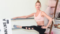 13 Sexy Shots Of Martha Hunt Raising The Barre ... Her Work Out Is On Pointe!