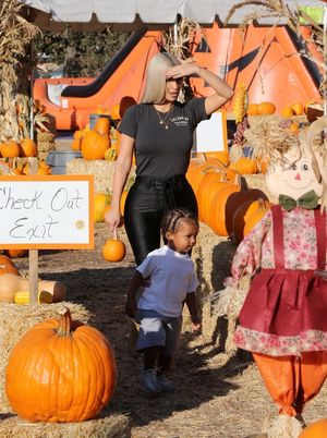 Kim, North and Saint at a Pumpkin Patch -- Gourdgeous