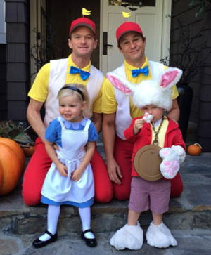 Neil Patrick Harris' Family Costumes