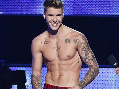 See Justin Bieber's New Ink -- It COMPLETELY Covers His Stomach