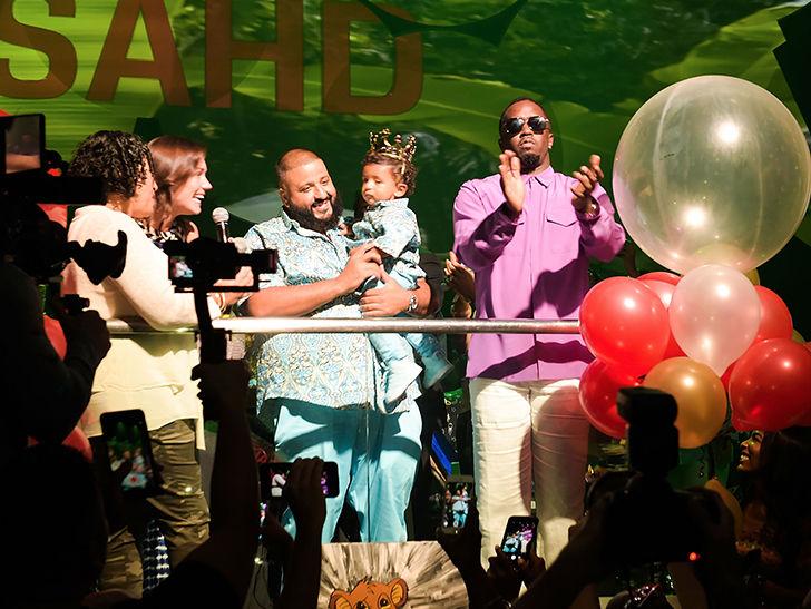 DJ Khaled Gives Asahd $100k Diamond Watch for 1st Birthday