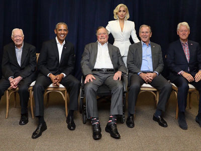 Twitter RIPS Trump, Wants Gaga For POTUS As Former Presidents Unite For Hurricane Relief
