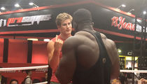 UFC's Sage Northcutt Wrestles HUGE Bodybuilder in China