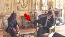French President Macron's Dog Pees During Meeting