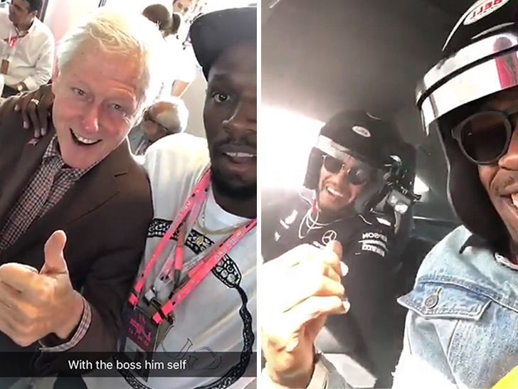 Bill Clinton Hangs with Usain Bolt, 'I'm a Huge Fan!'