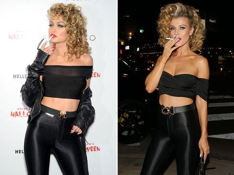 Gigi Hadid (22) vs. Joanna Krupa (38) -- Greaser Girls Edition