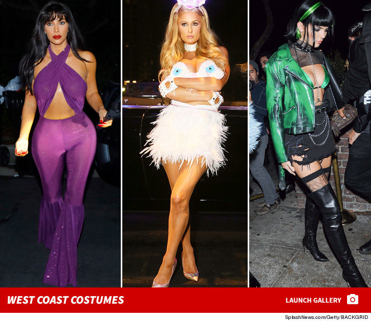 Kim Kardashian, Paris Hilton Dominate West Coast Halloween Party ...