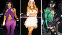 Kim Kardashian, Paris Hilton Dominate West Coast Halloween Party