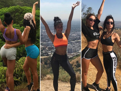 Hollywood Heads for The Hills ... See the Hiking Hotties