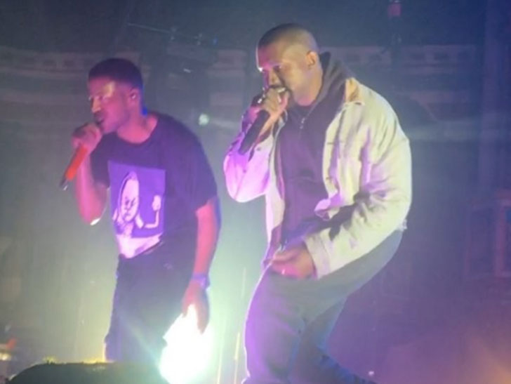'He's Alive!'- Celebrations as Kanye West Makes Appearance at Kid Cudi's Concert