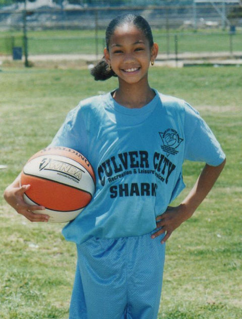 Before this sporty sprout was angelically walking down runways, she was just another little shark growing up in Los Angeles, CA.