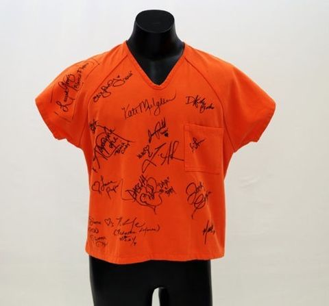 'Orange is the New Black' Inmate Shirt Worn by Uzo Aduba and Signed by Cast