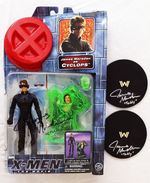 Cyclops Action Figure Signed by James Marsden: 'X-Men' Movie Bonus Westworld Item