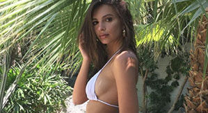Emily Ratajkowski Teases New Swimwear Line With Sultry Snap You're Gonna Want To See