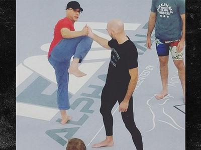Jean-Claude Van Damme Schools UFC Stars In Fighting Class
