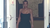 Kim Kardashian Touches Down for Serena's Wedding