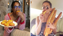 Carboloading Celebs ... Check Out the Bread Breakin' Stars!