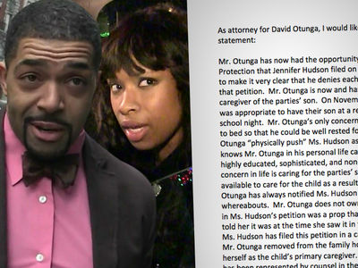 David Otunga Says Jennifer Hudson is Lying About Abuse and Parenting