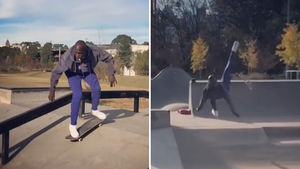 Chad Johnson Wipes Out HARD at the Skatepark