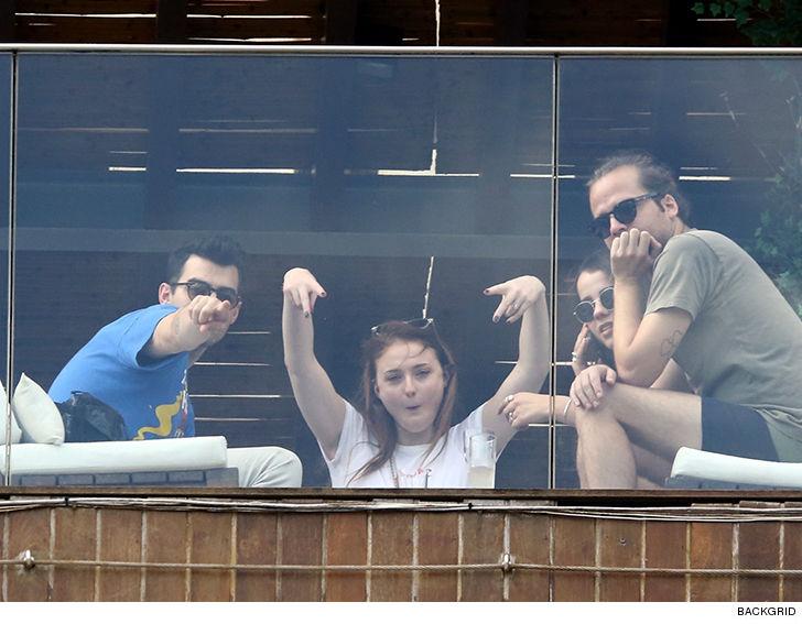 Sophie Turner and Joe Jonas Do Tequila Shots in Rio