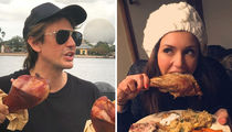Celebs Gobblin' Turkey Legs ... Eat Up These Finger Licking Photos