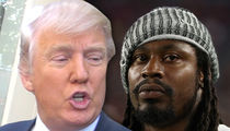 Donald Trump Rips Marshawn Lynch, Suspend Him If He Kneels Again!