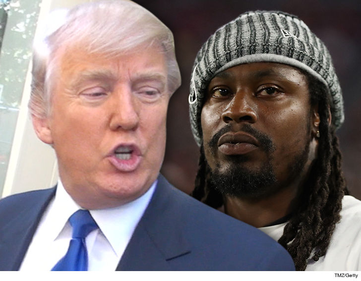 Donald Trump: Marshawn Lynch Should Be Suspended for Sitting During USA Anthem