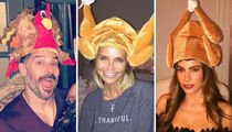 Stars Wearing Turkey Hats -- Gobble Up These Loony Lids!