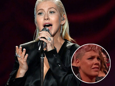 P!nk Said WHAT About 'Riff' with Christina Aguilera After Her 'Stank Face' at the AMAs Goes Viral?