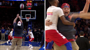 76ers Fan Makes Chicken-Winning Shot
