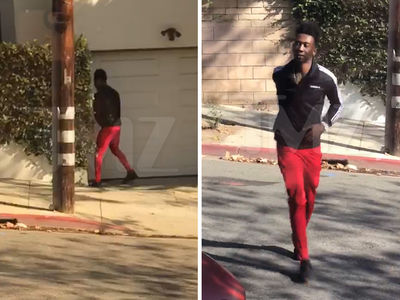 Desiigner Caught Peeing in Public on Garage Then Running Back to His Car