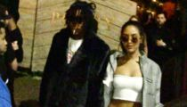Wiz Khalifa Hits Up Joint With Smoking Hot Girlfriend