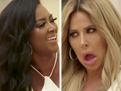 Kenya Moore Hurls Transgender Insult at Kim Zolciak In Explosive 'RHOA' Sneak Peek Video