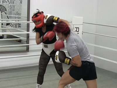 Cris Cyborg & Mia St. John Trade Shots in Boxing Sesh, Prepping for Holly Holm