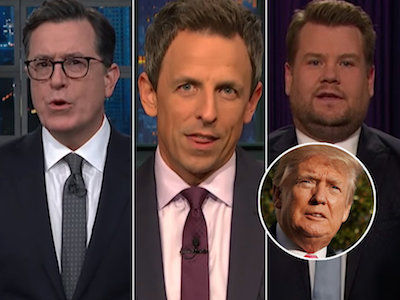 Late-Night Comedians Serve Trump, Take-A-Knee Jokes on Thanksgiving