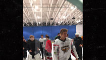 Justin Bieber Hit The Ice in Canada On Thanksgiving